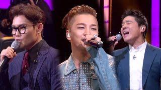 Fantastic Duo 판타스틱 듀오 EP01 20160417 SBS Kim Bum Soo, Lim Chang Jung, and Taeyang sining 'Eyes Nose Lips' together and their combination has ...