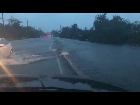 RAW VIDEO: New Bern flooding near evacuated TV station