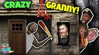 GRANNYS HOUSE, CRAZY ESCAPE w/ HELLO NEIGHBOR GETS NOSY!! (GRANNY REAL LIFE)