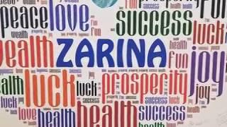 In loving memory of Zarina Aksmanov