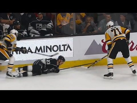 Video: Gotta See It: Malkin goes below the belt on Brown, no penalty called