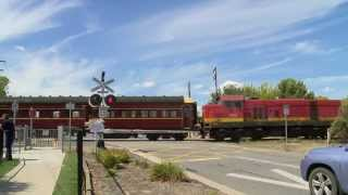 Culcairn Australia  city images : The LVR Heritage Train At A Level Crossing - PoathTV Australian Trains & Railways