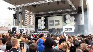 Benny Benassi mixes live at Festival Plaza in Windsor, Ontario, Canada, 09-06-2011