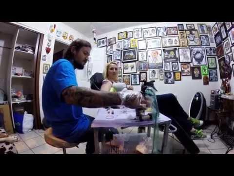 Bianca Gets a Tattoo by local Costa Rica tattoo artist Negus