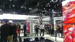 Kinetic sculpture that LG had at their booth at CES 2017. The 3-dimensional kinetic sculpture controlled by high end technology.