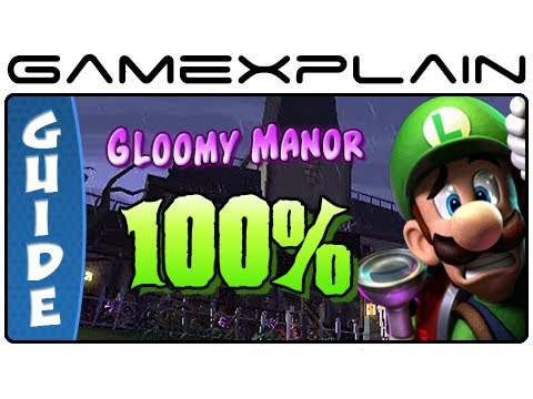 gloomy - http://www.GameXplain.com Our 100% complete walkthrough to Gloomy Manor in Luigi's Mansion 2: Dark Moon will reveal every hidden gem stone and secret Boo loc...