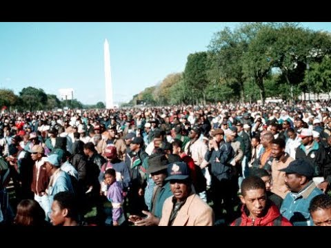 Why the Million Man March really happened October 16, 1995 +Louis Farrakhan the Mason