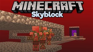 Going to the Nether in Skyblock! • Minecraft 1.15 Skyblock (Tutorial Let's Play) [Part 5]