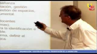 Masterprof UMH - Presentación De La Asignatura: Organización Y Gestión De Centros