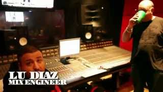 Dj Khaled in the studio with Lu Diaz