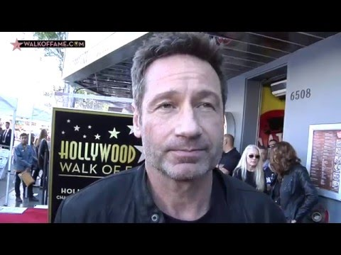 David Duchovny Walk of Fame Ceremony