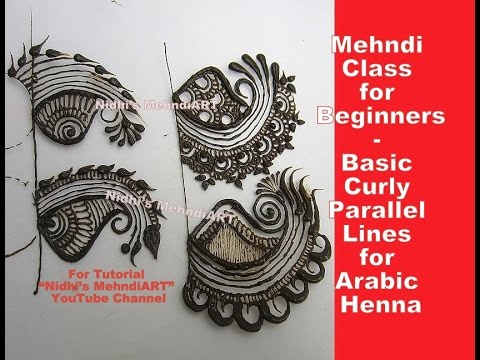 Video Mehndi Class for Beginner- Basic Curly Parallel Lines for Arabic Henna download in MP3, 3GP, MP4, WEBM, AVI, FLV January 2017