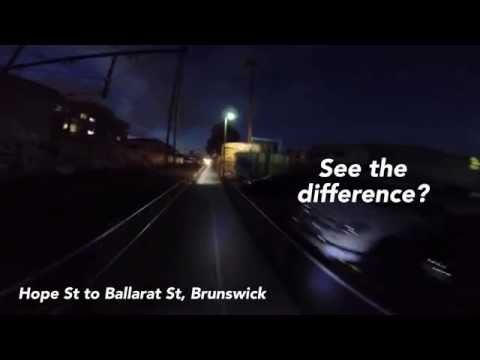 See the difference bike path lighting makes video