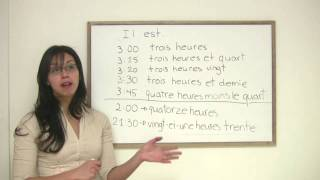 In this lesson, Rita explains how to tell time in French. Includes a variety of useful phrases and expressions related to time. Presented by Diplomat Language School in Toronto, Canada.