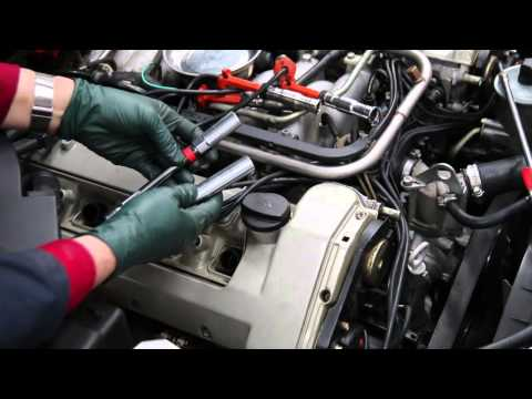 Mercedes M119 V8 Engine Inspection Part 6: Spark Plug Removal, Inspection and Replacement