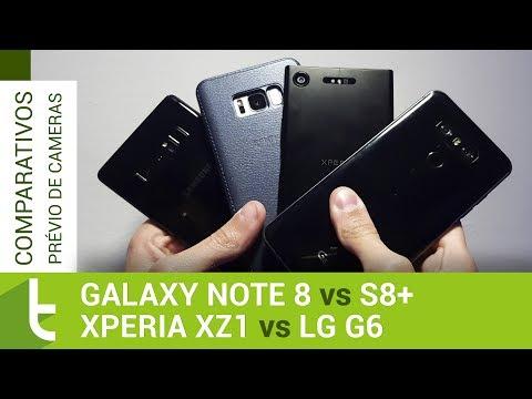 Galaxy Note 8, S8+, G6 e Xperia XZ1  Comparativo prévio de câmeras do TudoCelular