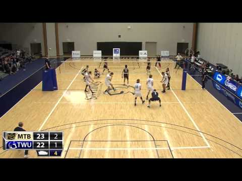 2014-11-01 TWU Men's Volleyball Highlights vs Manitoba