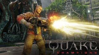 Introducing BJ Blazkowicz, the newest addition to the Quake Champions roster!BJ Blazkowicz hasn't led an easy life. From a troubled past, to a bloody career as a soldier, and now this: years trapped in the Dreamlands, forced into combat with other Champions from across the waking world. No, ol' Terror-Billy hasn't had the best of luck – but in Quake Champions, he'll be able to take all the skills he's picked up over the years and really put them to the test. You got your first look at BJ's Quake Champions debut during our E3 2017 Showcase on Sunday, and now you can see him in action in our latest trailer. Play as BJ in the beta now by grabbing your code at Quake.com: https://beth.games/2p2okmeFollow Quake Champions on social media:Facebook: http://www.facebook.com/quakeTwitter: http://twitter.com/quakeInstagram: http://www.instagram.com/quakeESRB RATING PENDING: May contain content inappropriate for children. Visit www.esrb.org for rating information.