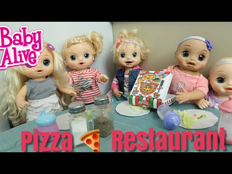 BABY ALIVE Outing To The Pizza Restaurant Play Doh baby alive videos