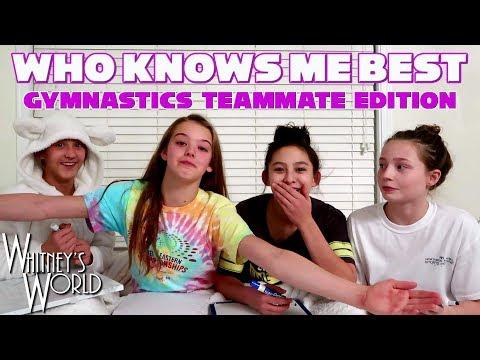 WHO KNOWS ME BEST CHALLENGE | Gymnastics Teammate Edition | Whitney Bjerken