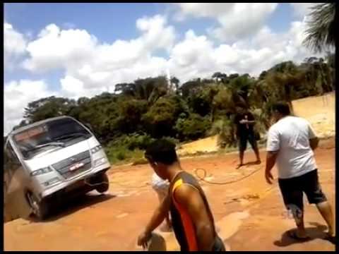 Rio Engole Onibus – Reportagem SBT – Itaituba – Rodovia TransAmazônica