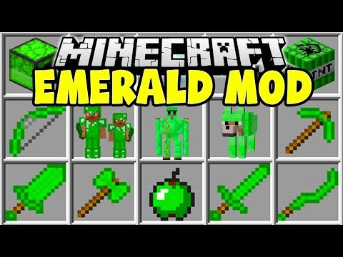 Minecraft EMERALD MOD | EMERALD DIMENSION, EMERALD WEAPONS, ITEMS, & MORE!!