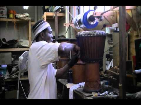 comment reparer une peau de djembe