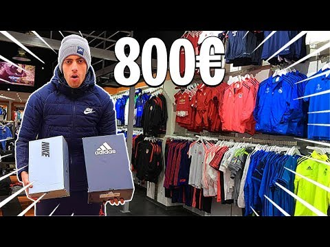 ON PREND PLUS DE 800 EUROS D'AFFAIRE DE FOOT ! VLOG FOOTBALL