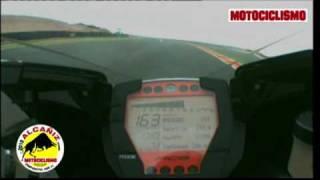 8. Onboard KTM 1190 RC8 R - Prova comparativa Motociclismo maxisportive circuito Alcaniz