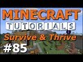 Minecraft Tutorials - E85 New Fishing and Water Breathing (Survive and Thrive Season 7)