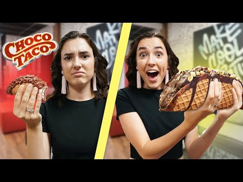 Making A GIANT Chocolate Ice Cream Taco!