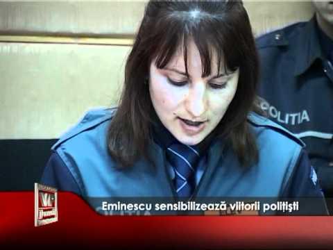 Eminescu sensibilizează viitorii poliţişti