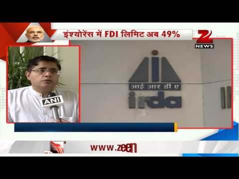 BJP lauds approval of 49% FDI in Insurance; Left parties oppose the idea 24 July 2014 11 AM