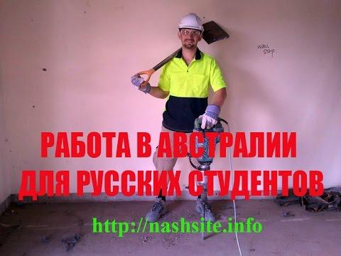 Работа в австралии для русских студентов. рамзес-1185