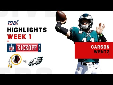 Carson Wentz Throws 3 TDs in Season Opener | NFL 2019 Highlights