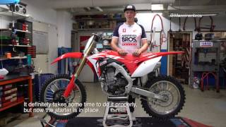 10. Honda CRF450R Electric Start Installation (step by step how to video)
