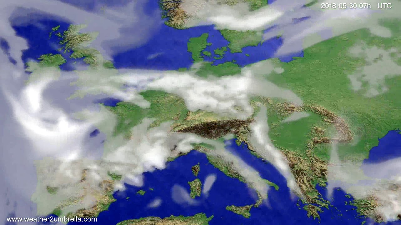 Cloud forecast Europe 2018-05-26