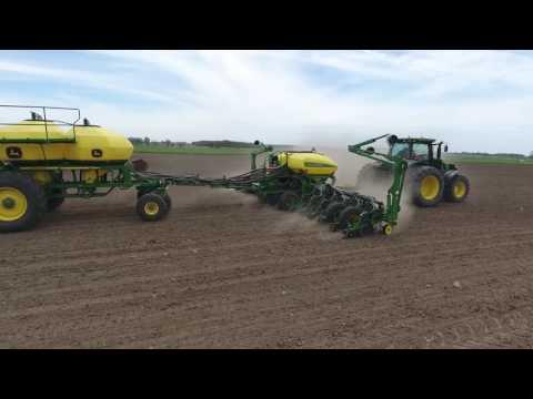 Planting corn in Woodham