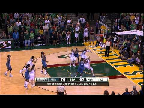 Look into Seattle Storms final play vs. Minnesota Lynx- 2012