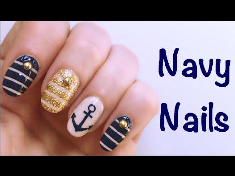 nail art - effetto marinaio