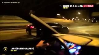 Tuned Lamborghini Gallardo & Nissan GT-R vs. Russian Police