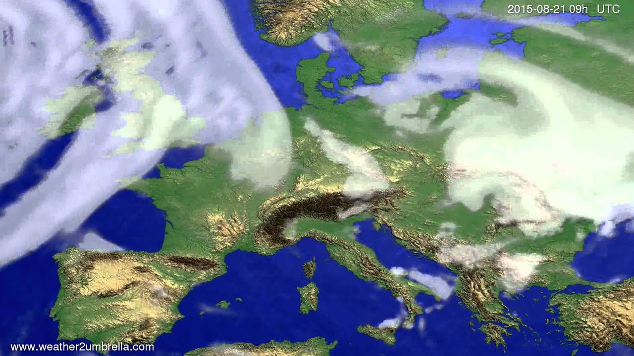 Cloud forecast Europe 2015-08-17