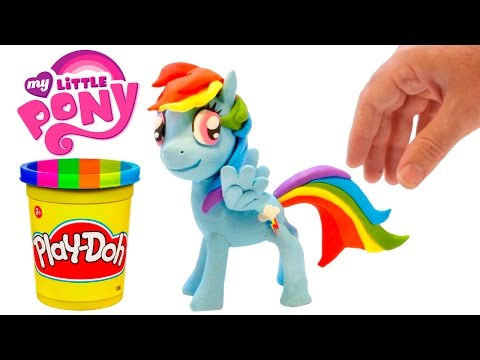 Play Doh Rainbow Dash Stop Motion Playdough My Little Pony Animation