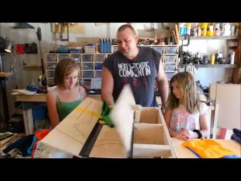 homemade - Using my Woodworking know how I designed and built this clothes folding machine to make it fun for my kids to fold their clothes. Not only is it fun but it will fold any t- shirt, pants, or...