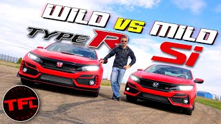 How Much Speed Does $12,000 Buy? We Find Out! 2020 Honda Civic Type R vs. Civic Si Hot or Not by The Fast Lane Car