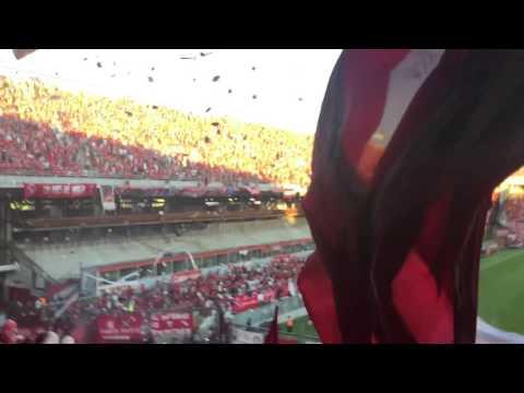 Recibimiento independiente racing 1-1 - La Barra del Rojo - Independiente