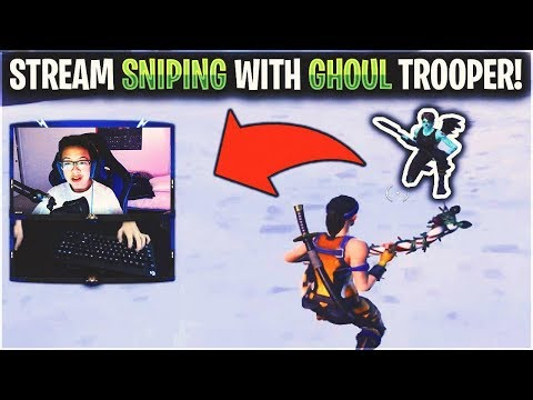 Stream Sniping a TWITCH Streamer with GHOUL TROOPER...