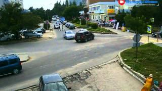 Перекрёсток в Щёлкино, 01.08.2015 - time-lapse с камеры 2