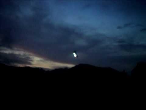 Voo Noturno com luzes de navegação em Guaramirim com T Rex 500.