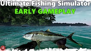 Tomcat Plays: Ultimate Fishing Simulator! (Early Gameplay) I CAUGHT A FISH!